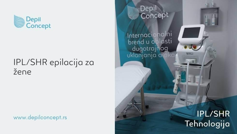 ipl shr epilacija žene uklanjanje dlaka trajna epilacija