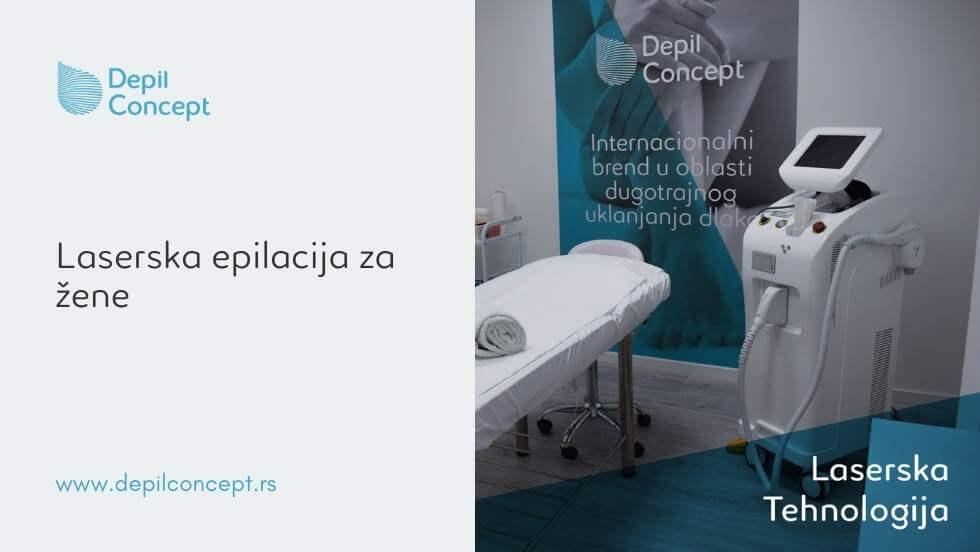 laserska trajna epilacija žene